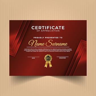 Geometric premium multipurpose certificate diploma template