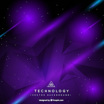 Geometric purple background