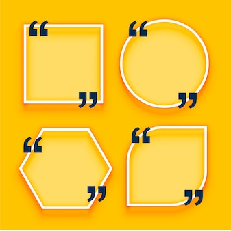 Geometric quotation boxes on yellow background