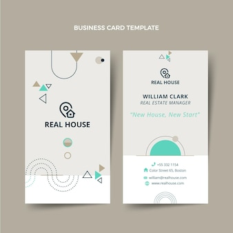 Geometric real estate vertical business card