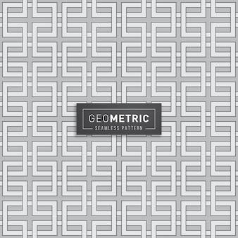기하학적 인 사각형 체인 원활한 패턴
