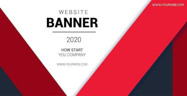 Geometric red banner