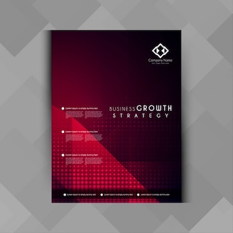 Geometric red business brochure