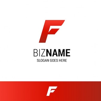 Geometric Red Logo With The Letter F