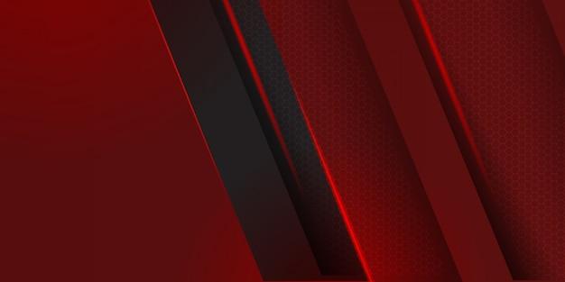 검은 줄무늬 배경이있는 기하학적 빨간색 소재