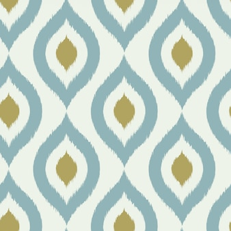 Geometric retro ikat tribal seamless pattern