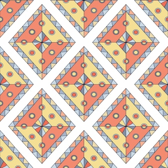 Geometric rhombus. seamless vector pattern. abstract ethnic colorful design.