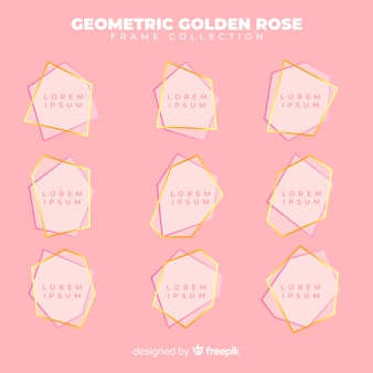 Geometric rose gold frame collection
