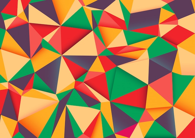Geometric rumpled triangular low poly style gradient.