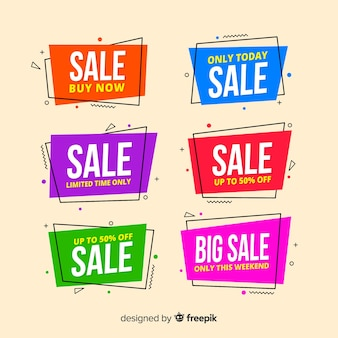 Geometric sale banners