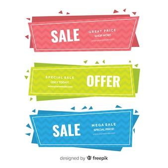 Geometric sales banners
