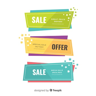 Geometric sales banners