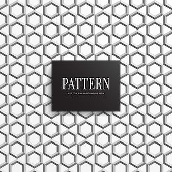 Geometric seamless 3d hexagon pattern background