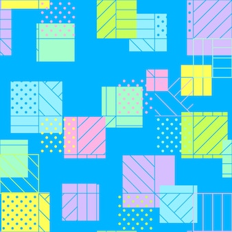 Geometric seamless blue pattern dots horizontal and diagonal lines