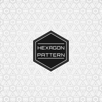 Geometric seamless hexagon pattern background