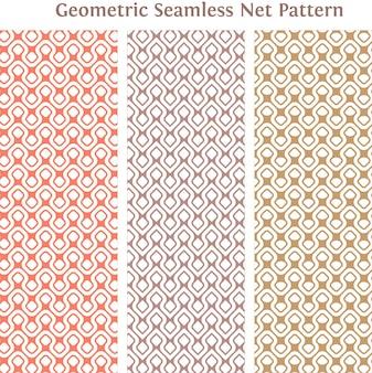 Geometric seamless net pattern background and texture