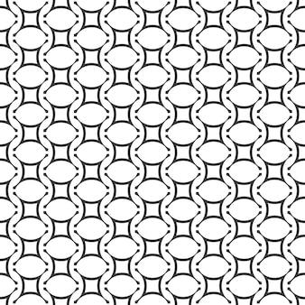 Geometric seamless pattern in arabic style