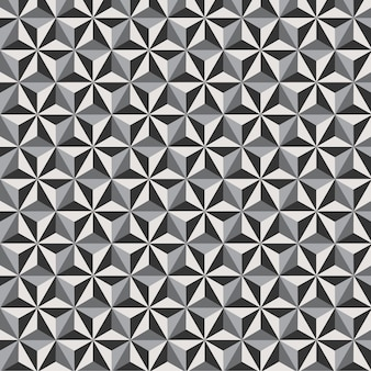 Geometric seamless pattern background hexagon flower with black and white