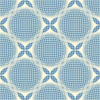 ラインと幾何学的なシームレスパターン背景。