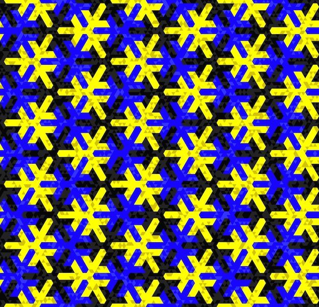 伝統的なイスラムの装飾に基づいた幾何学的なシームレスパターン。色付き。