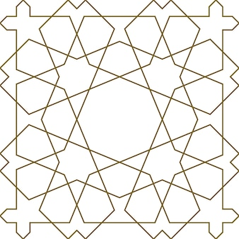 Geometric seamless pattern based on traditional islamic ornament