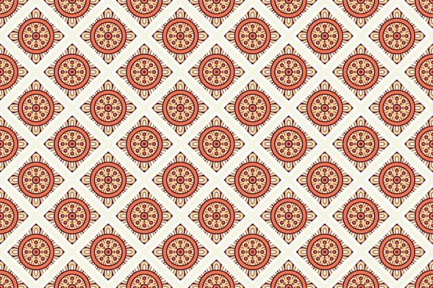Geometric seamless pattern, circle element