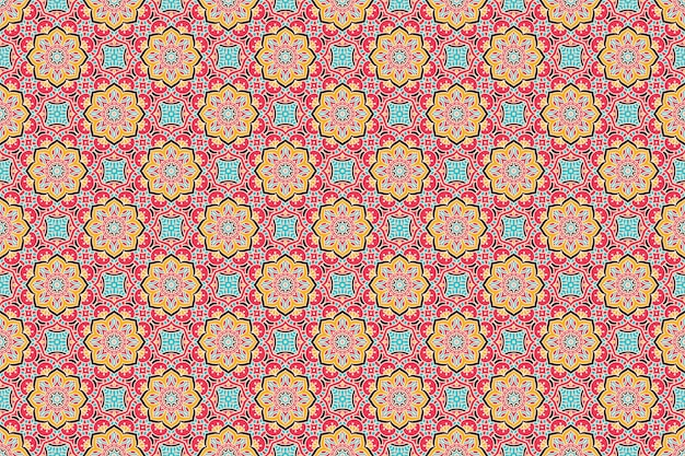Geometric seamless pattern, circle element