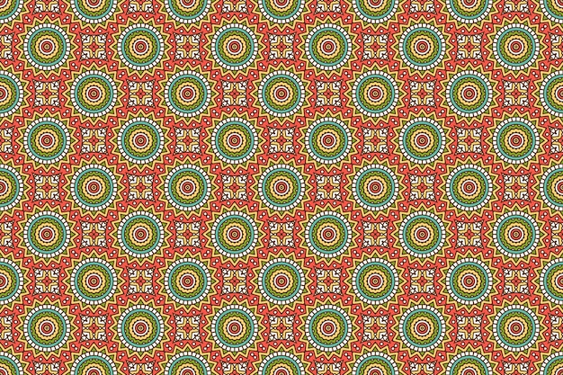 幾何学的なシームレスパターン、円要素
