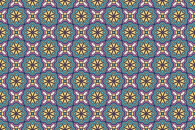 기하학적 완벽 한 패턴, 원형 요소 무료 벡터