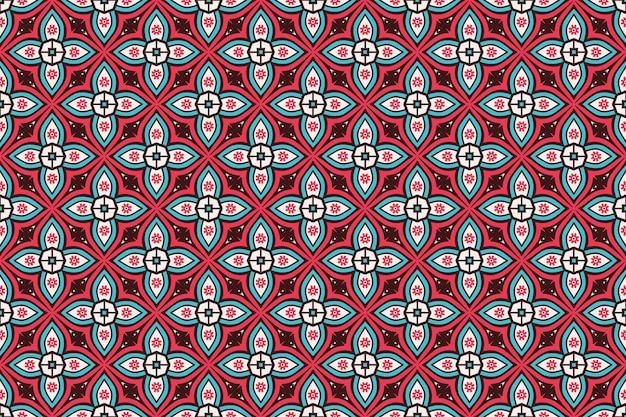 Геометрический бесшовный узор, элемент круга