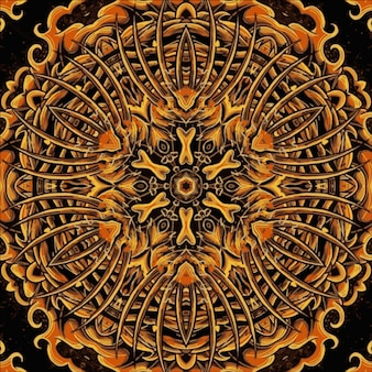 기하학적 원활한 패턴 만화경 그림, 동양 스타일 그림