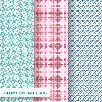 Geometric seamless pattern pack
