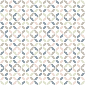 Geometric seamless pattern in pastel colors.