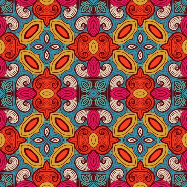 완벽 한 기하학적 패턴입니다. 벽지 또는 직물 디자인 패턴에 적합합니다.