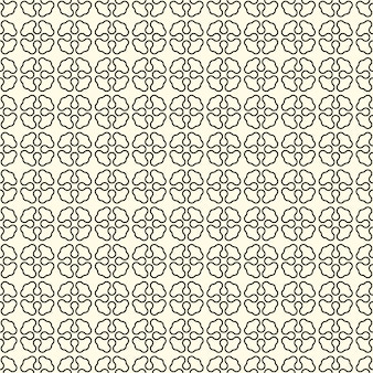 Geometric seamless pattern with abstract flowers