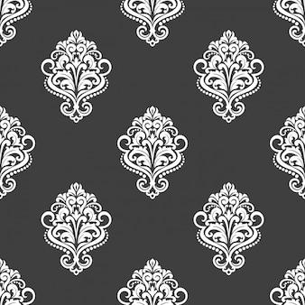 꽃 모티브와 기하학적 완벽 한 패턴