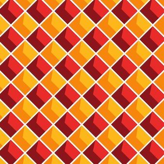 Геометрический узор бесшовные с пересекающимися линиями фона в оранжевый и красный цвет.