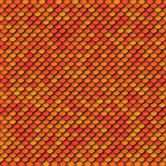Geometric seamless pattern with paper cut realistic round elements in yellow orange and red colors