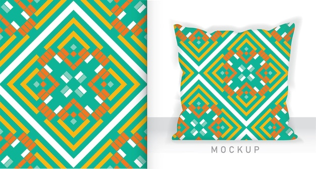 Geometric seamless pattern with square and rectangle