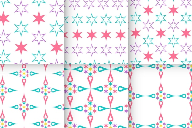 Geometric seamless pattern with stars
