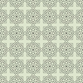 Geometric seamless pattern with stylized flower in arabic style