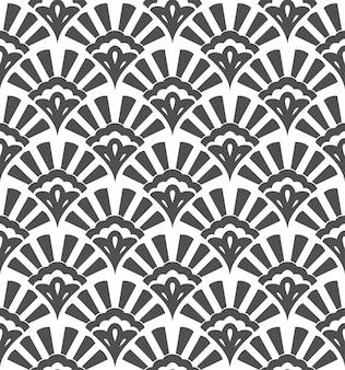 Geometric seamless pattern with stylized shells