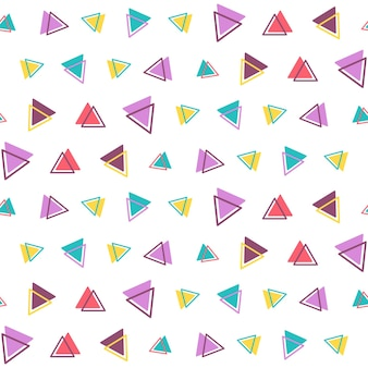 白い背景で隔離の三角形と幾何学的なシームレスパターン