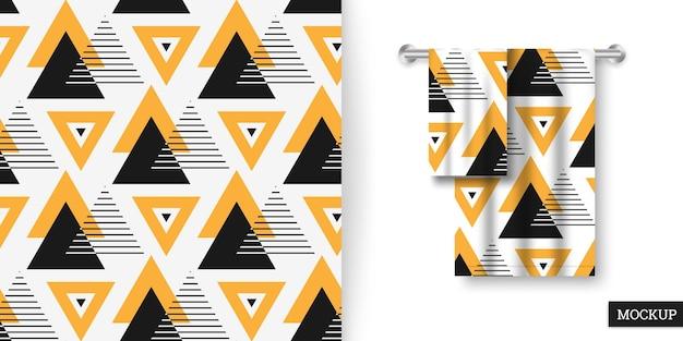 三角形の幾何学的なシームレスパターン