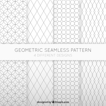 Geometric seamless patterns collection