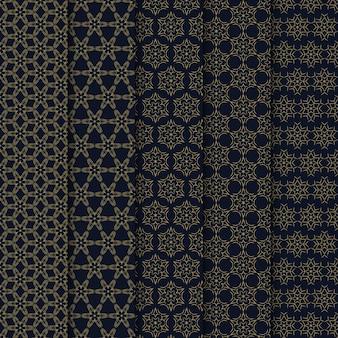 기하학적 완벽 한 패턴 세트