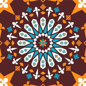 幾何学的なシームレスな図形パターン