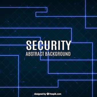 Geometric security background with blue lines
