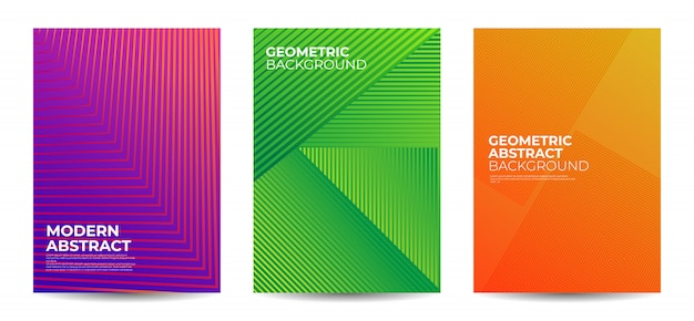 Geometric shape abstract background set