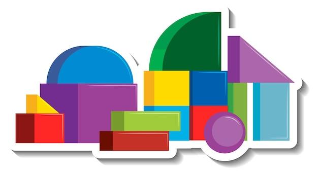 幾何学的形状のレンガブロック